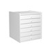C-1S Sunglasses Display White Wood Cabinet - C1SWT