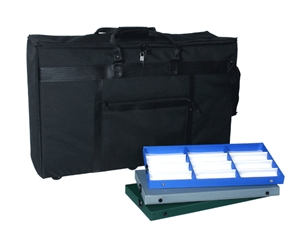 E-6 Shoulder Bag with wheels Elite E-6 Shoulder Bag with wheels 276 frames of 168 sunglasses eyewear display cases