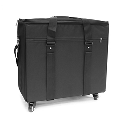 E-5B Shoulder Bag w/ Wheeled Carriage Elite E-5B Shoulder Bag 192 frames or 120 sunglasses eyewear display cases
