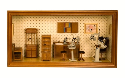 Mini Eye Exam Room Diorama Sample Sale
