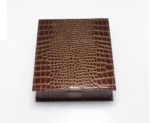 T-4CPLM Crocodile Leather Tray