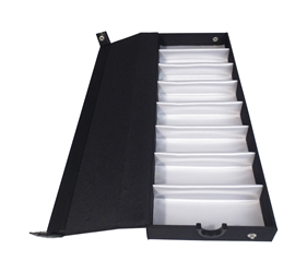"T-8 (1 3/8"") Black Tray with Snap Buttons"